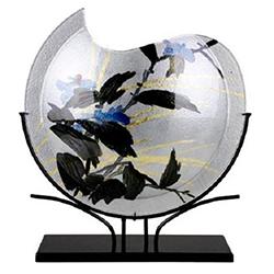 Decorative Art Fused Glass Round Vases
